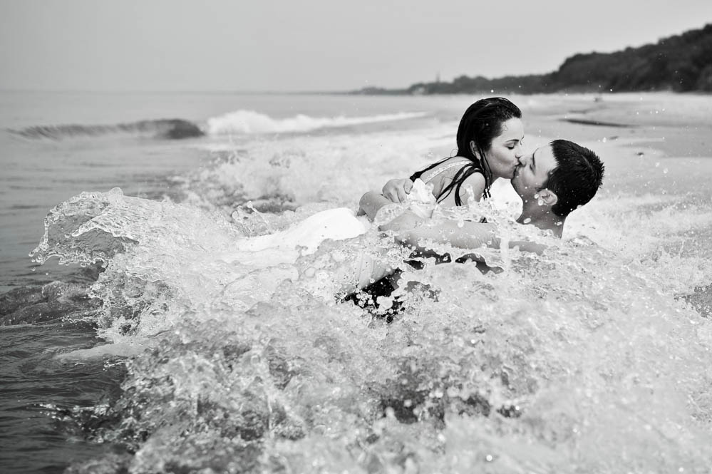 sesje ślubne nad morzem Koszalin