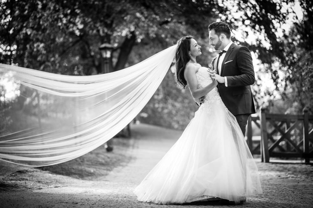 plener ślubny w Parku w Koszalinie